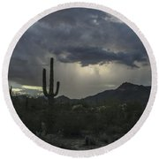 Desert Storm Beauty Round Beach Towel