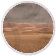 Great Sand Dunes Approaching Storm Round Beach Towel
