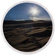 Desert Sun Round Beach Towel