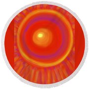Desert Sunburst Round Beach Towel by Daina White
