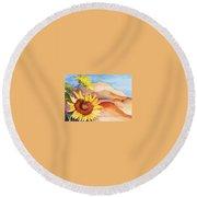 Desert Sunflower Round Beach Towel