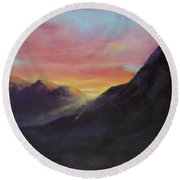 Easter Sunrise Round Beach Towel