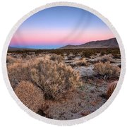 Desert Twilight Round Beach Towel