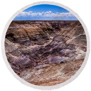 Desert Valley Round Beach Towel