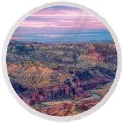 Desert View Sunset Round Beach Towel