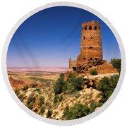 Desert View Watchtower Round Beach Towel