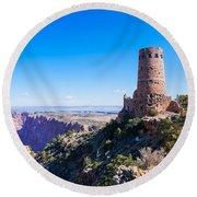 Desert View Watchtower Overlook Round Beach Towel