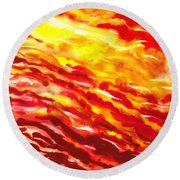 Desert Wind Abstract I Round Beach Towel