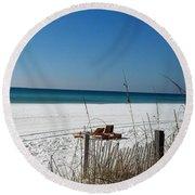 Deserted Beach Round Beach Towel