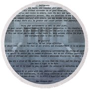 Desiderata Stairs Round Beach Towel