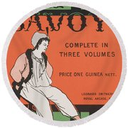 Design For The Front Cover Of 'the Savoy Complete In Three Volumes' Round Beach Towel