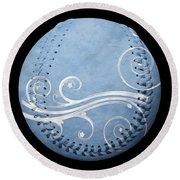 Designer Light Blue Baseball Square Round Beach Towel