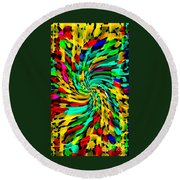 Designer Phone Case Art Colorful Rich And Bold Abstracts Cell Phone Covers Carole Spandau Cbs Art136 Round Beach Towel by Carole Spandau