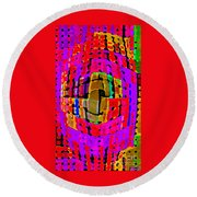 Designer Phone Case Art Colorful Rich Bold Abstracts Cell Phone Covers Carole Spandau Cbs Art 138 Round Beach Towel