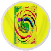 Designer Phone Case Art Colorful Rich Bold Abstracts Cell Phone Covers Carole Spandau Cbs Art 139  Round Beach Towel