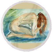 Despair Round Beach Towel
