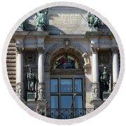 Detail City Hall Hamburg II Round Beach Towel
