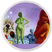 Detail From - The Dreamer's Night Round Beach Towel