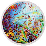 Detail From  To Make Visible The Invisible  II Round Beach Towel