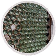 Detailed View Of Bottle House At Calico California Round Beach Towel