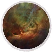 Details Of Orion Nebula Round Beach Towel