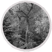 Determination 2 Monochrome Round Beach Towel