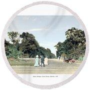 Detroit - Belle Isle Park - Central Avenue - 1905 Round Beach Towel