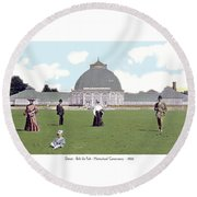 Detroit - Horticultural Conservatory - Belle Isle Park - 1905 Round Beach Towel