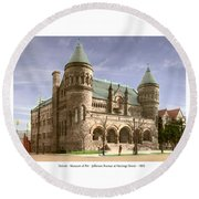 Detroit - The Museum Of Art - Jefferson Avenue At Hastings Street - 1905 Round Beach Towel