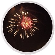 Detroit Area Fireworks -1 Round Beach Towel