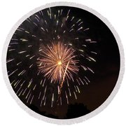 Detroit Area Fireworks -10 Round Beach Towel