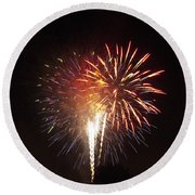 Detroit Area Fireworks -2 Round Beach Towel
