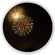Detroit Area Fireworks -3 Round Beach Towel