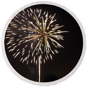 Detroit Area Fireworks -4 Round Beach Towel