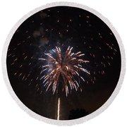 Detroit Area Fireworks -5 Round Beach Towel