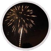 Detroit Area Fireworks -6 Round Beach Towel