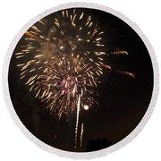 Detroit Area Fireworks -7 Round Beach Towel