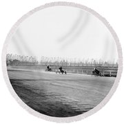Detroit Auto Race, C1902 Round Beach Towel