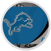 Detroit Lions Round Beach Towel