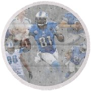 Detroit Lions Team Round Beach Towel