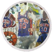 Detroit Pistons Bad Boys  Round Beach Towel