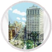 Detroit - The David Whitney Building - Woodward Avenue - 1918 Round Beach Towel