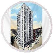 Detroit - The Kresge Building - West Adams Street - 1918 Round Beach Towel