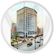 Detroit - The Majestic Building - Woodward Avenue - 1900 Round Beach Towel