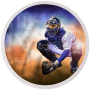 Detroit Tiger Alex Avila Round Beach Towel