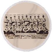 Detroit Tigers 1913 Round Beach Towel