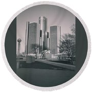Detroit2 Round Beach Towel