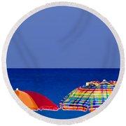 Deuce Umbrellas Round Beach Towel