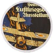 Deutsche Luftkriegsbeute Ausstellung Round Beach Towel