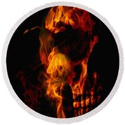Devil Within Round Beach Towel